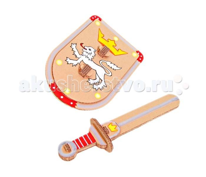 Игрушечное оружие CartonHouse Набор из картона Я рыцарь Щит и Меч недорого