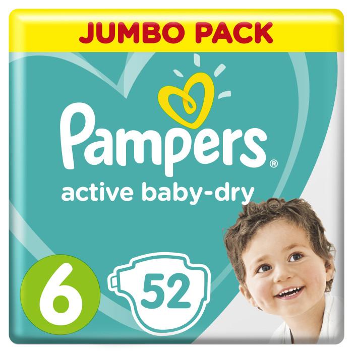 Гигиена и здоровье , Подгузники Pampers Подгузники Active Baby-Dry Extra Large р.6 (15+ кг) 52 шт арт: 490951 -  Подгузники