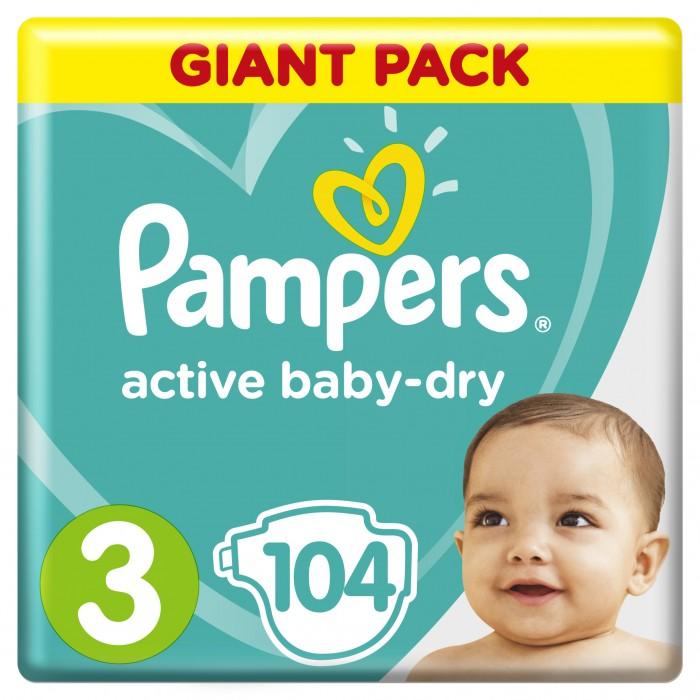Подгузники Pampers Подгузники Active Baby-Dry Midi р.3 (5-9 кг) 104 шт подгузники детские pampers подгузники pampers active baby dry 5 9 кг 3 размер 54 шт