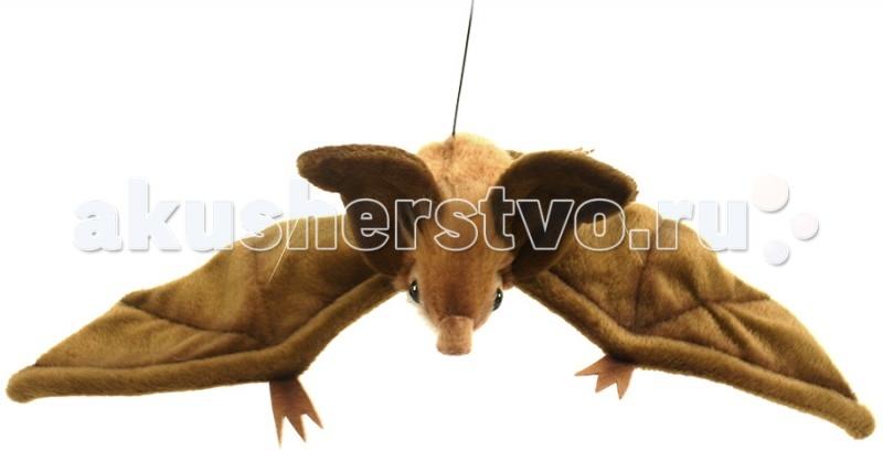 Купить Мягкие игрушки, Мягкая игрушка Hansa Коричневая летучая мышь парящая 37 см