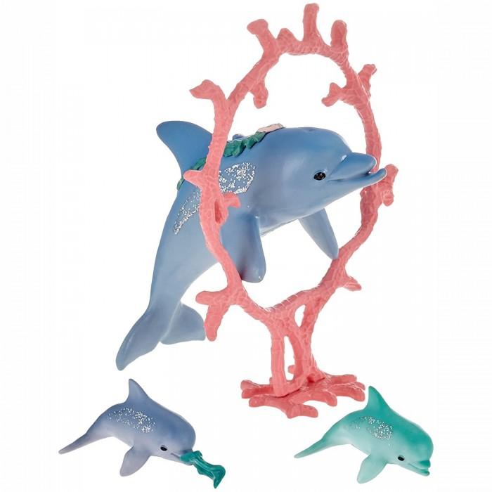 Игровые наборы Schleich Игровой набор Мама дельфин с детенышами, Игровые наборы - артикул:491756