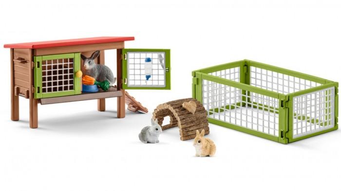 Игровые наборы Schleich Игровой набор Клетка для кроликов игровые наборы dickie игровой набор аэропорт