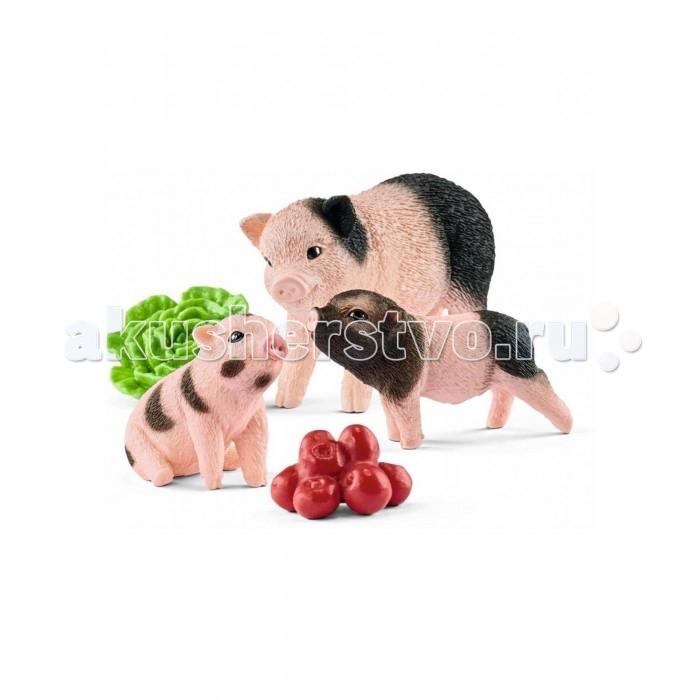 Игровые наборы Schleich Игровой набор Мама свинья с поросятами игровые наборы tomy игровой набор приключения трактора джонни и лошади на ферме