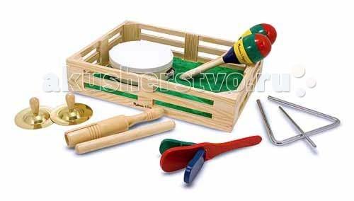 Музыкальные игрушки Melissa & Doug Музыкальные инструменты в коробке музыкальные игрушки