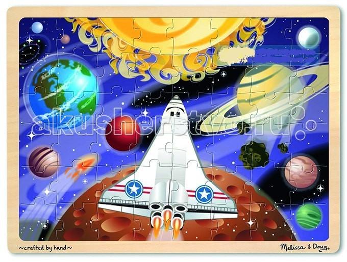 Пазлы Melissa & Doug Пазл перемешай и собирай Космос дрофа медиа пазл для малышей играй и собирай 4 в 1 2938