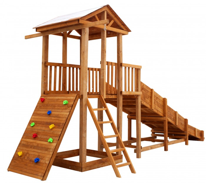 Картинка для Можга (Красная Звезда) Детская площадка Спортивный городок 3 с горкой