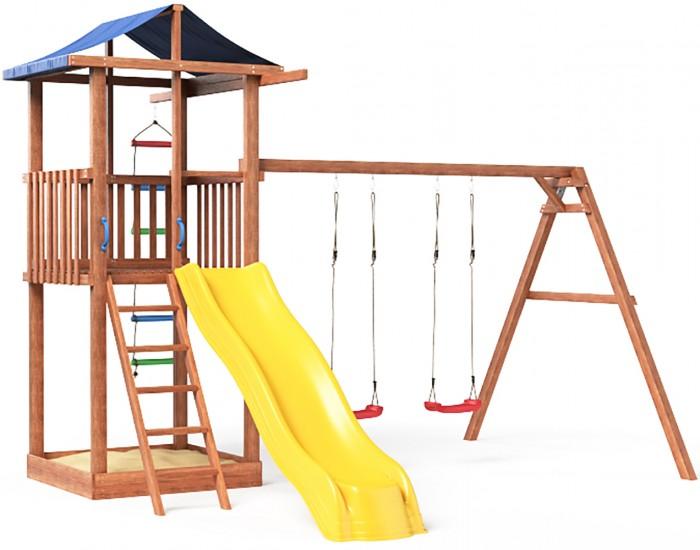 Можга (Красная Звезда) Детская площадка Спортивный городок 1 с качелями с тентом  (СГ1-Р912-Тент)