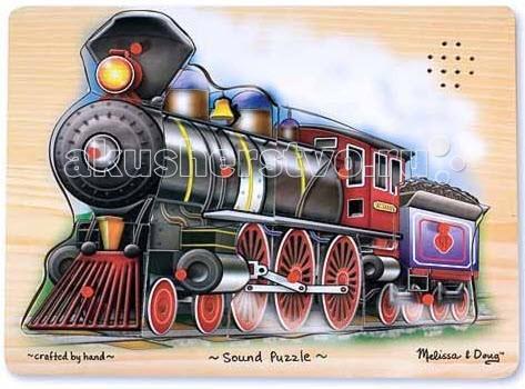 Пазлы Melissa & Doug Пазл со звуком Поезд
