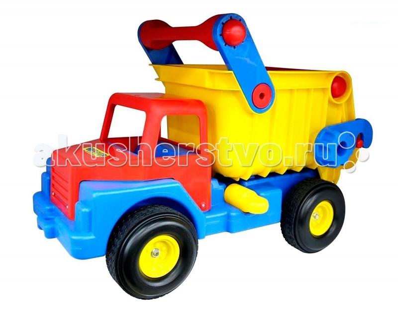Wader Автомобиль-самосвал 37916Автомобиль-самосвал 37916Wader Автомобиль-самосвал 37916 с резиновыми колесами для катания дома и на улице.  Наступает весна и все дети выходят играть на улицу. Для игр во дворе и в песочнице идеально подойдет автомобиль-самосвал. Это очень большие, надежные и удобные самосвалы, в кузове которых можно перевозить другие игрушки, песок, листья и даже младшего братика можно туда посадить.   Играть с самосвалами понравится любому малышу и доставит удовольствие как мальчику, так и девочке. Кто сказал, что девочки не могут водить самосвалы? Им также как и мальчишкам будет очень интересно управлять этой чудо-машиной, перевозящей песок и другие материалы (например) для строительства дома. Кроме транспортных услуг, этот небольшой самосвал способен решать большие воспитательные задачи,развивает много хороших качеств: помощь друзьям и взрослым, ответственность, заботу, доброту и внимание. В кабину самосвала можно легко посадить небольшие фигурки и игра наполнится глубоким смыслом.   Супер-большой автомобиль станет прекрасным подарком для Вашего любимого малыша. Ребенок будет в восторге не только от внешнего вида автомобиля, а также от появившейся новой возможности самому управлять автомобилем, насыпать песочек и камушки, перевозить и выгружать для воображаемого объекта строительства.   Детская машина-самосвал привлечет внимание Вашего малыша и не даст ему скучать. Автомобиль - настоящая находка для тех, кто любит свои автомобили и быструю езду. Ваш ребенок сможет часами играть с этим автомобилем, придумывая разные истории, преодолевая препятствия. Играя самосвалом ребенок развивает координацию движений, воображение, пространственное мышление. Выбирая игрушку для ребенка, мы хотим, чтобы она была не только увлекательной, но и полезной. Большие машины – это не простой аттракцион, развлекающий ребенка, а игра, активно развивающая его воображение и творческое мышление. Мальчик начинает думать, создавать ролевые сцены с автомобилями, обыгрывая свои де