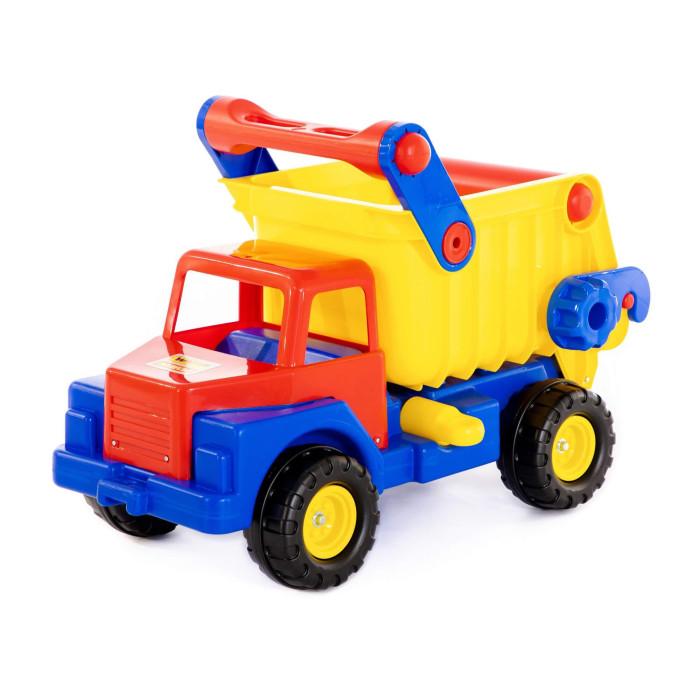Wader Автомобиль-самосвал 37909Автомобиль-самосвал 37909Wader Автомобиль-самосвал 37909 с пластиковыми колесами для катания дома и на улице.  Наступает весна и все дети выходят играть на улицу. Для игр во дворе и в песочнице идеально подойдет автомобиль-самосвал. Это очень большие, надежные и удобные самосвалы, в кузове которых можно перевозить другие игрушки, песок, листья и даже младшего братика можно туда посадить.   Играть с самосвалами понравится любому малышу и доставит удовольствие как мальчику, так и девочке. Кто сказал, что девочки не могут водить самосвалы? Им также как и мальчишкам будет очень интересно управлять этой чудо-машиной, перевозящей песок и другие материалы (например) для строительства дома. Кроме транспортных услуг, этот небольшой самосвал способен решать большие воспитательные задачи,развивает много хороших качеств: помощь друзьям и взрослым, ответственность, заботу, доброту и внимание. В кабину самосвала можно легко посадить небольшие фигурки и игра наполнится глубоким смыслом.   Супер-большой автомобиль станет прекрасным подарком для Вашего любимого малыша. Ребенок будет в восторге не только от внешнего вида автомобиля, а также от появившейся новой возможности самому управлять автомобилем, насыпать песочек и камушки, перевозить и выгружать для воображаемого объекта строительства.   Детская машина-самосвал привлечет внимание Вашего малыша и не даст ему скучать. Автомобиль - настоящая находка для тех, кто любит свои автомобили и быструю езду. Ваш ребенок сможет часами играть с этим автомобилем, придумывая разные истории, преодолевая препятствия. Играя самосвалом ребенок развивает координацию движений, воображение, пространственное мышление. Выбирая игрушку для ребенка, мы хотим, чтобы она была не только увлекательной, но и полезной. Большие машины – это не простой аттракцион, развлекающий ребенка, а игра, активно развивающая его воображение и творческое мышление. Мальчик начинает думать, создавать ролевые сцены с автомобилями, обыгрывая свои 