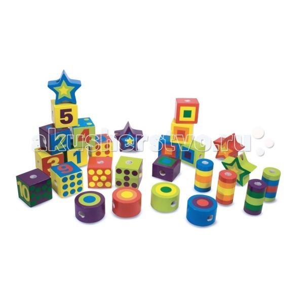 Купить Деревянные игрушки, Деревянная игрушка Melissa & Doug Сшивание бусин