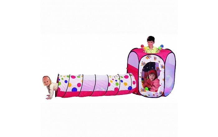 Фото - Палатки-домики Calida Игровая палатка туннель с шарами Шестигранник палатки домики calida дом палатка 100 шаров конус квадрат туннель