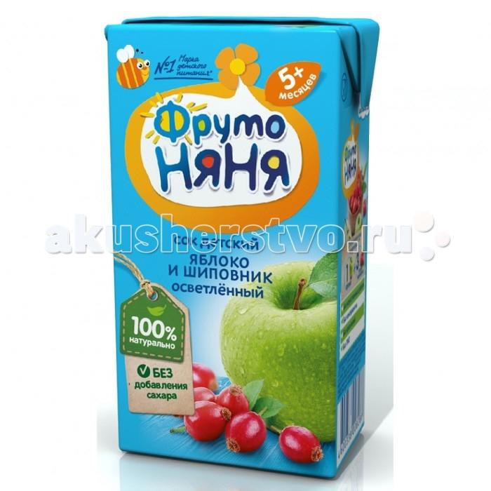 Фото Соки и напитки ФрутоНяня Сок яблоко-шиповник осветленный с 5 мес 125 мл