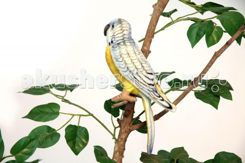 Мягкие игрушки Hansa Попугай волнистый голубой 15 см