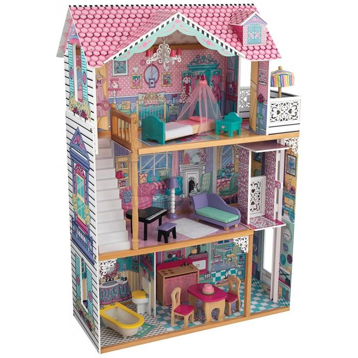 Кукольные домики и мебель KidKraft Трехэтажный дом для кукол Барби Аннабель кукольные домики и мебель classic world кроватка для кукол
