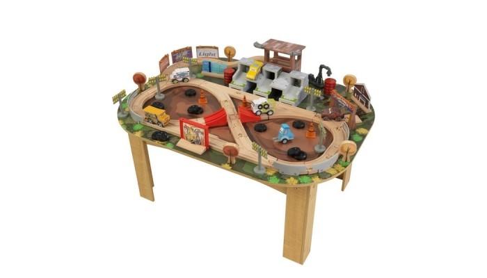 KidKraft Гараж с трассой Тачки 3Гараж с трассой Тачки 3TRONG>KidKraft Центральная грузовая железнодорожная станция со столом создан для сюжетно тематических игр мальчиков возрастом от 3 до 8 лет.   Игры с наборами от KidKraft одновременно развивающие и обучающие, в ходе игры ребенок познакомится с различными видами транспорта.   Набор обеспечит веселую драйвовую игру малышу и его друзьям.  В комплекте: изготовлен из древесины березового массива и нетоксичного пластика оформление детализированными рисунками добротность качества выполнения всех деталей набора.<br>