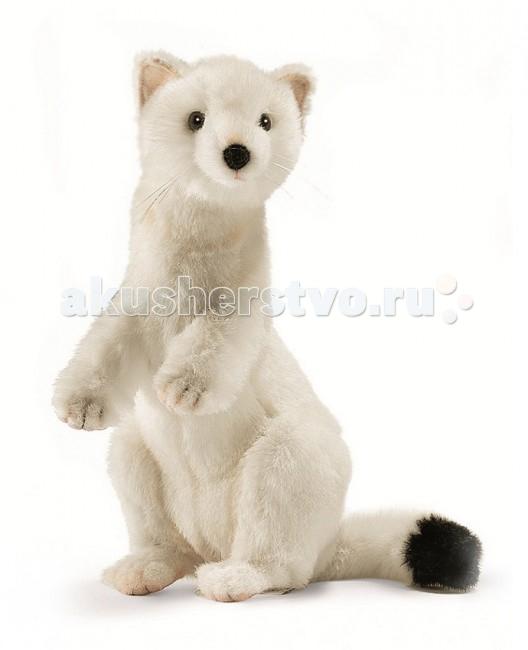 Купить Мягкие игрушки, Мягкая игрушка Hansa Горностай зимний окрас 30 см