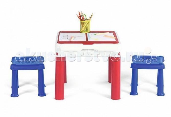 Детские столы и стулья Keter Столик для игр с конструктором 3 в 1 кашпо цилиндрическое комплект 3 size set keter