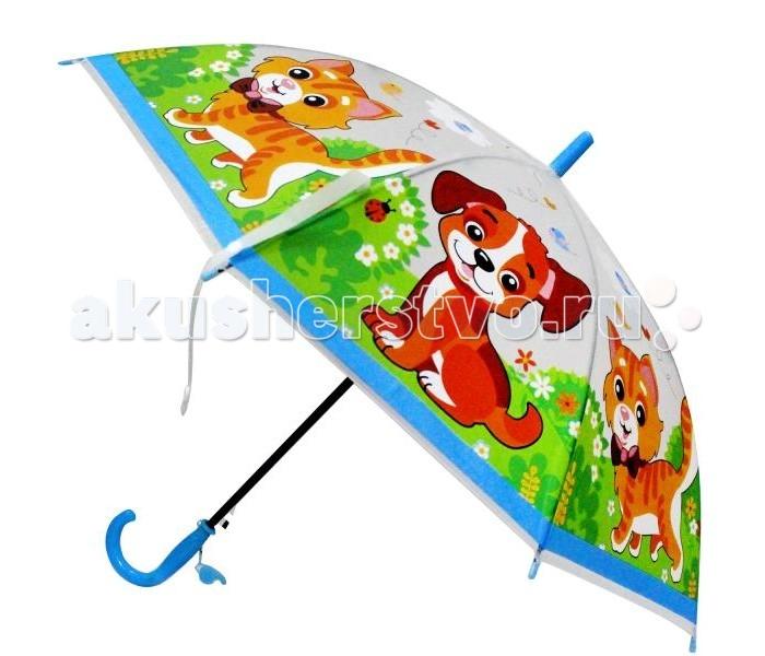 Детские зонтики Играем вместе прозрачный Домашние животные со свистком зонт играем вместе домашние животные um45 dom