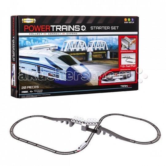 Powertrains & Constructions Премиум-набор Железная дорога с мостом
