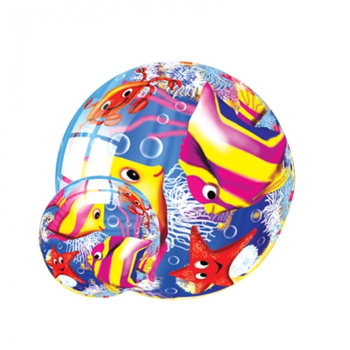 Мячики и прыгуны Maxitoys Мяч Морской Мир 23 см мячики и прыгуны djeco мячик сад