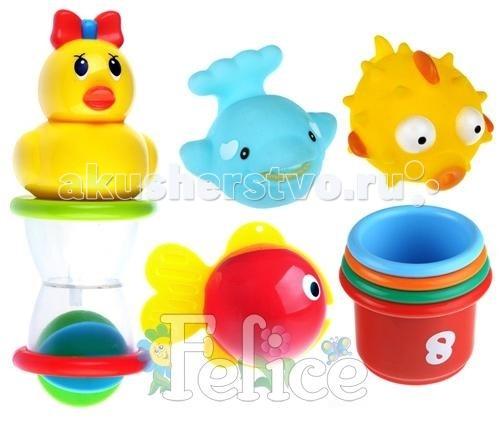 Игрушки для ванны Felice Набор для игр в воде felice ew мультицентр 20159