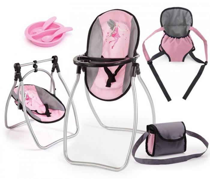 Игровые наборы Bayer Набор для кукол (стульчик, кенгурушка, сумка, посуда) smoby переноска для кукол mc