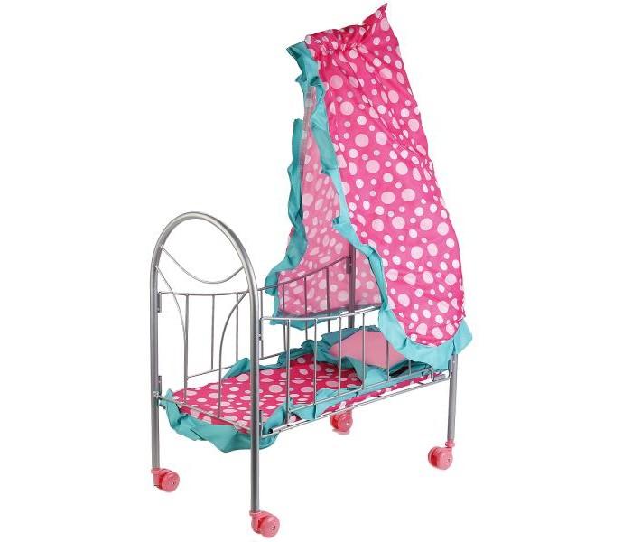 Кроватки для кукол Карапуз с балдахином