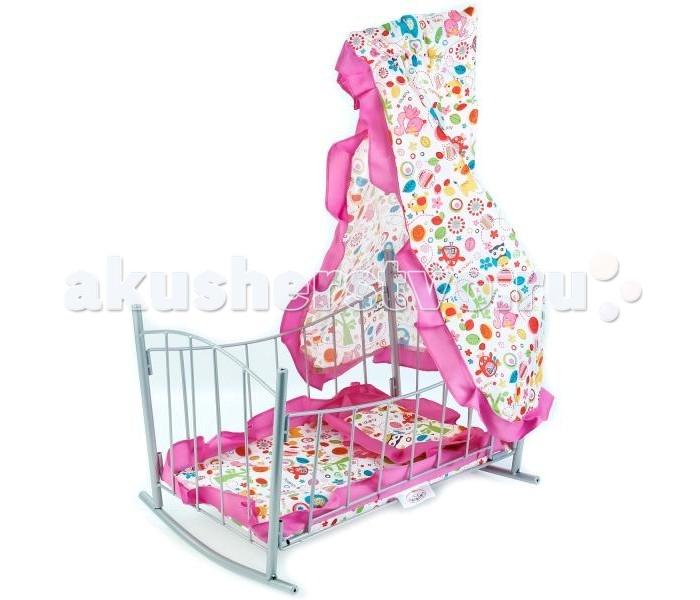 Кроватки для кукол Карапуз с балдахином и матрасом