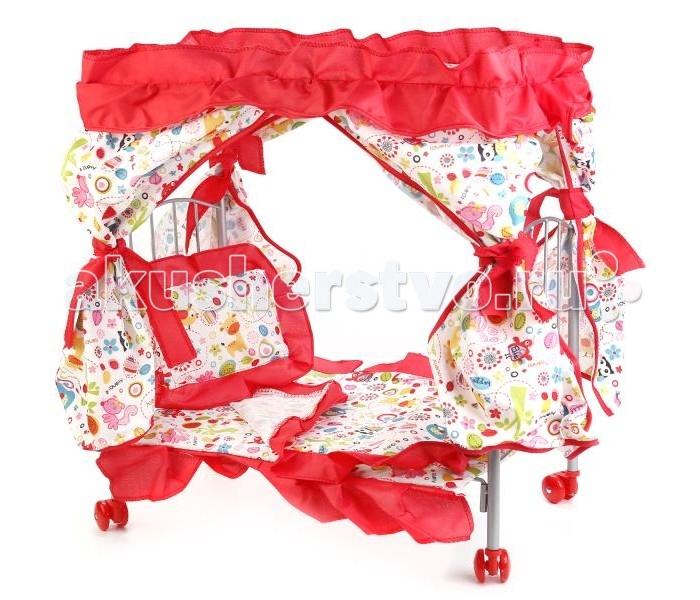 Кукольные домики и мебель Карапуз Комплект для кукольной кроватки (4 предмета)