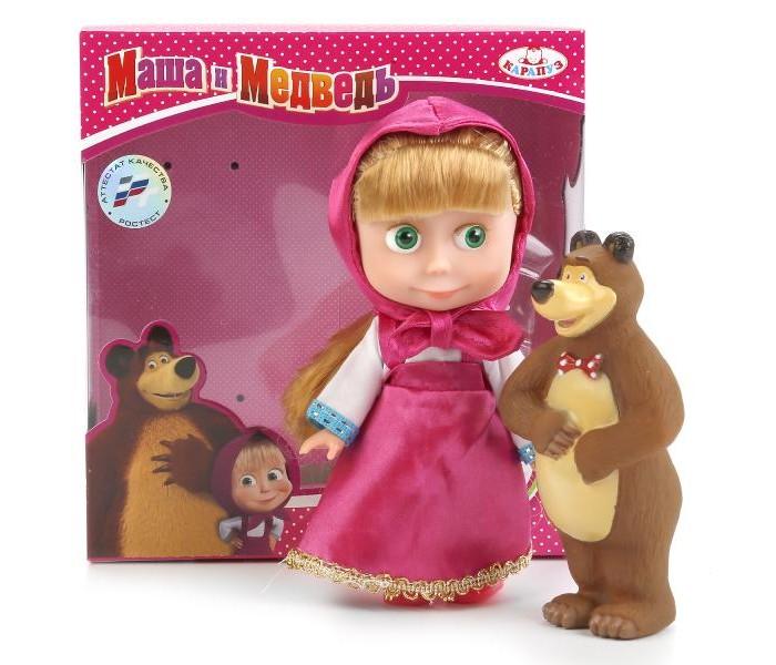 Куклы и одежда для кукол Карапуз Кукла Маша и Медведь 15 см