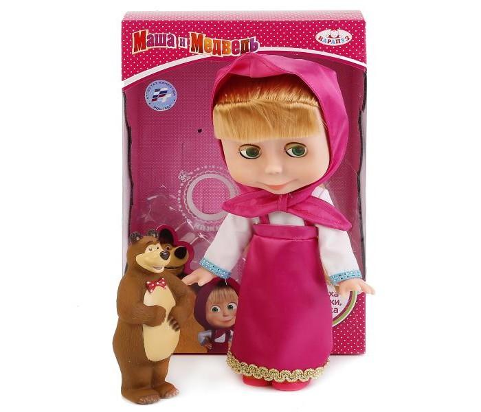 Куклы и одежда для кукол Карапуз Кукла Маша с мишкой 25 см