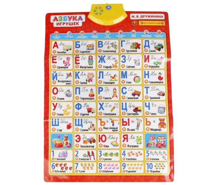 Умка Говорящий плакат Азбука игрушек