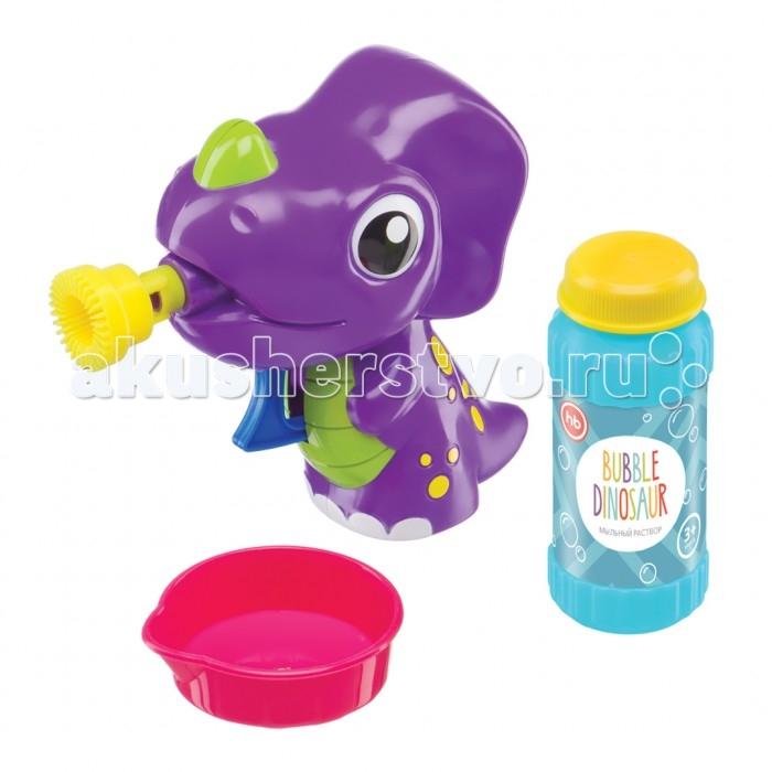 Мыльные пузыри Happy Baby Набор для пускания мыльных пузырей Bubble Dinosaur игрушка good dinosaur 62006