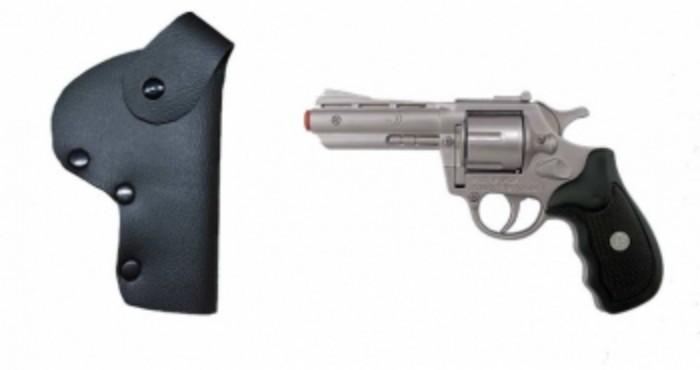 Игрушечное оружие Gonher Полицейский игрушечный набор (8 пистонов) игровой набор gonher ковбойский 2 револьвера на 8 пистонов 2 кобуры звезда шерифа 158 0
