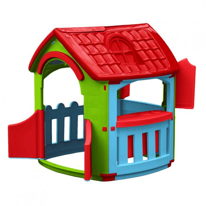 Palplay (Marian Plast) Домик Кухня со светом и музыкойИгровые домики<br>Palplay (Marian Plast) Домик Кухня со светом и музыкой – уникальная игрушка. В нем ребенок становится хозяином собственного сказочного мира.   В процессе игры малыш примеряет на себя различные социальные роли, тем самым происходит первичный процесс адаптации. Когда ребенок играет с друзьями, у него улучшается коммуникативный процесс, что также важно для будущей жизни.  Домик сделан из качественного пластика. Имеет красочный дизайн, имитирующий реальный дом. Удобная конструкция позволяет легко собирать домик, а также без труда размещать его как в квартире, так и на природе.  Монтирование и демонтаж игрового комплекса осуществляется путем соединения отдельных частей домика с помощью пластиковых гаек. В собранном виде конструкция довольно крепкая и прочная. Домик имеет несколько дверей и три больших окошка, одно из которых закрывается на ставни. Предусмотрена надежная крыша, оберегающая малыша от воздействия солнечных лучей и внезапной непогоды. Внутри домика благоустроена небольшая кухня с раковиной и двухкомфорочной плитой с открывающейся духовкой.  Цвета: голубой, зеленый, красный  Размер в разложенном виде: 101х105х110.5 см  Вес: 13.77 кг