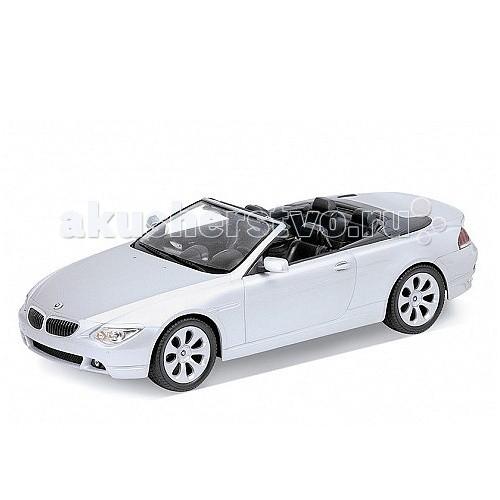 Welly Модель машины 1:18 BMW 654CIМодель машины 1:18 BMW 654CIМодель машины 1:18 BMW 654CI  Коллекционная модель машины масштаба 1:18 BMW 654CI.  Функции: открываются передние двери, капот, багажник, поворотом руля поворачиваются передние колеса.<br>