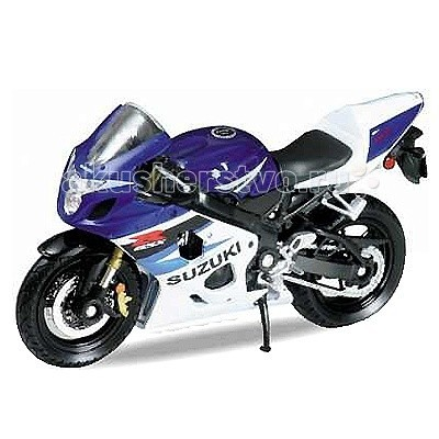 Машины Welly Модель мотоцикла 1:18 Motorcycle Suzuki GSX-R750 injection molding fairing kit for suzuki gsx r1000 05 06 k5 gsxr 1000 2005 2006 white blue motorcycle fairings set nm72 cowl