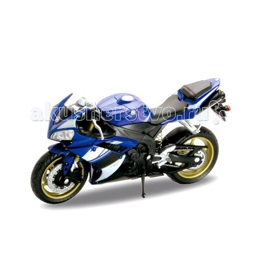 Машины Welly Модель мотоцикла 1:18 Yamaha YZF-R1 custom cheap injection fairings for yamaha yzf r1 2002 2003 fairing kit yzfr1 02 03 yzf r1 full black abs plastic parts