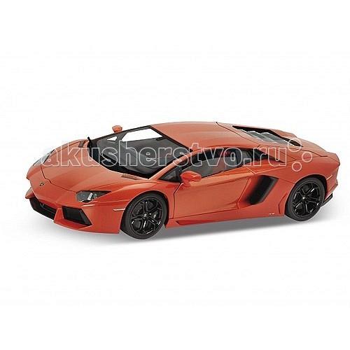 Welly Модель машины 1:18 Lamborghini AventadorМодель машины 1:18 Lamborghini AventadorМодель машины 1:18 Lamborghini Aventador  Коллекционная модель машины масштаба 1:18 Lamborghini Aventador.  Функции: открываются передние двери, капот, багажник, поворотом руля поворачиваются передние колеса.<br>