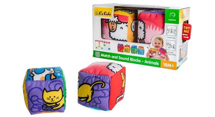 Развивающие игрушки KS Kids Кубики музыкальные Совместика животных, Развивающие игрушки - артикул:498831