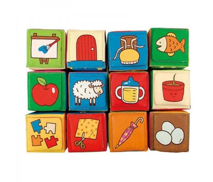 Развивающие игрушки KS Kids Кубики мягкие Обучайка