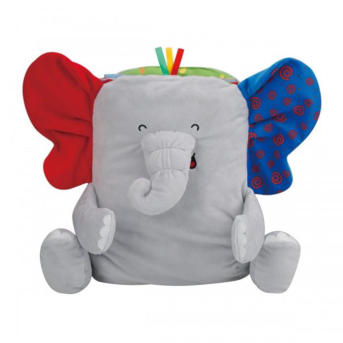 Развивающая игрушка KS Kids коврик СлонРазвивающие игрушки<br>Развивающая игрушка KS Kids коврик Слон - яркая игрушка с разноцветными шуршащими ушками, хоботом и мягкими лапками.   Внутри слона кроха обнаружит книжечку с мягкими страничками и красочными иллюстрациями, которые с интересом будет рассматривать. Яркие картинки познакомят детей с различными видами животных и расширят кругозор ребенка.   Книжку можно превратить в удобный коврик с прорезывателем и погремушкой, если полностью разложить ее на полу. А сам слоник при этом будет выполнять роль мягкой подушечки под голову малыша.  Игрушка выполнена из высококачественного текстиля с приятной на ощупь поверхностью, который очень прочный и окрашен в насыщенные цвета стойкими красителями. Слоник абсолютно безопасен для игр малышей, так как имеет округлые края, мягкий корпус и гипоаллергенный наполнитель внутри.