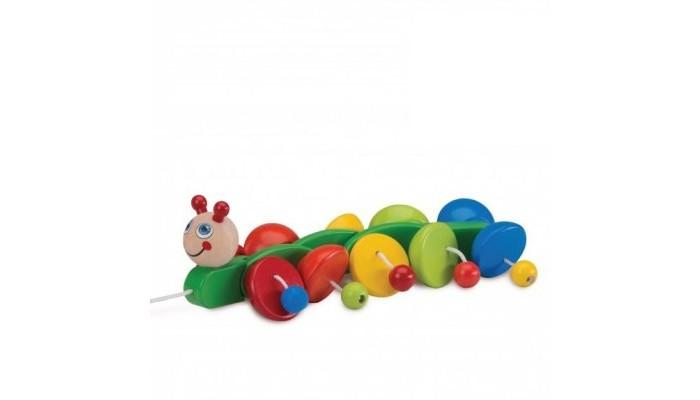 Деревянная игрушка Wonderworld Игрушка-каталка Гусеница