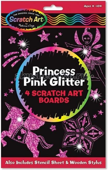 Наборы для творчества Melissa & Doug Набор для творчества Scratch Art набор для рисования Принцесса