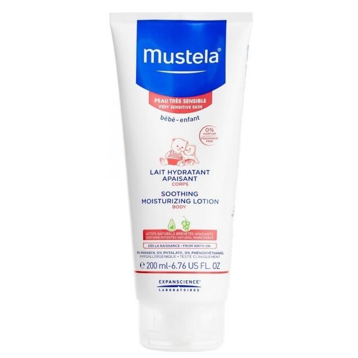Косметика для новорожденных Mustela Bebe Молочко для тела увлажняющее успокаивающее Sensitive Skin 200 мл mustela цена в россии