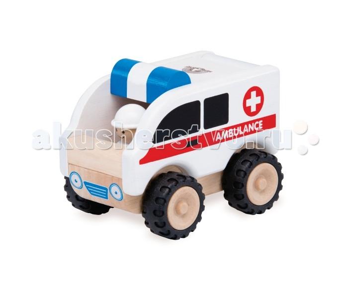 Деревянные игрушки Wonderworld Скорая помощь Miniworld деревянные игрушки wonderworld трактор му му с прицепом miniworld