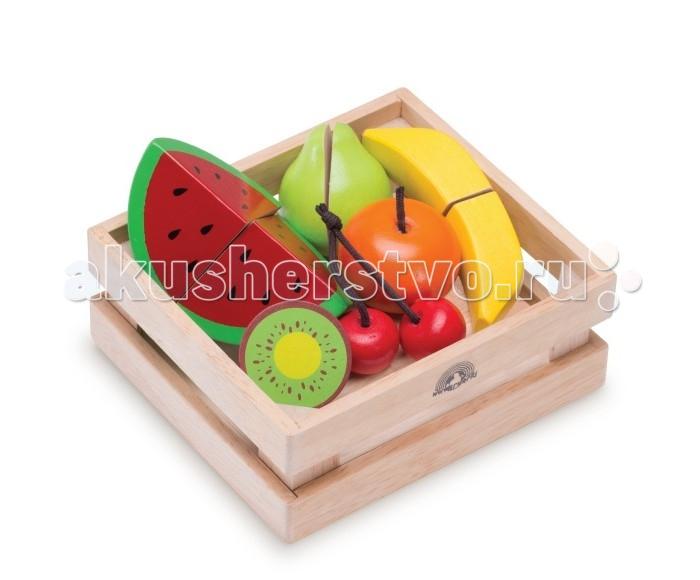 Деревянная игрушка Wonderworld Фрукты и ягоды для нарезки в ящике