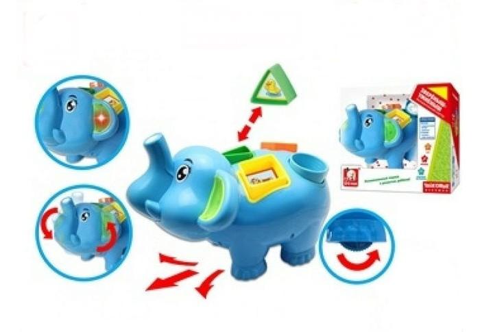 Сортеры S+S Toys интерактивный Слон 100692551 детские компьютеры s s обучающий интерактивный планшет живой календарь