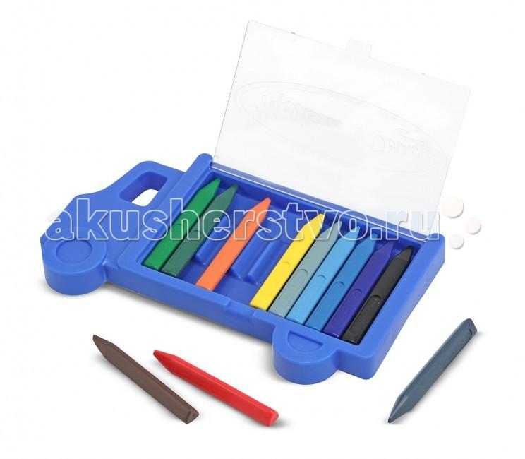 Карандаши, восковые мелки, пастель Melissa & Doug Набор Грузовик инструмент набор инструментов melissa